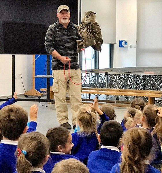 Vincent Robba from the Raptor Rehabilitation Unit