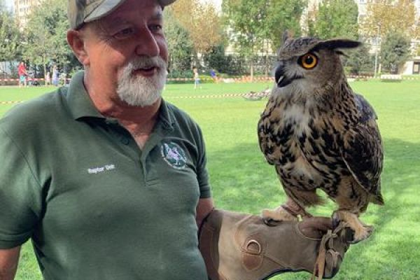 Vincent with Eagle Owl
